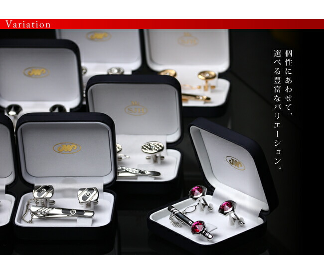 『天然ダイヤモンドローズ×カフスボタン&ネクタイピンセット』-8