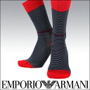 EMPORIO ARMANI ( Emporio Armani ) mens socks socks Eagle mark & EA logo small border 23142-203 sybp smtb-k all points 10 times in!