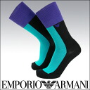 2342-204 block color pattern socks socks men's EMPORIO ARMANI ( Emporio Armani ) sybp smtb-k all points 10 times in!
