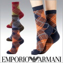 EMPORIO ARMANI ( Emporio Armani ) ladies ' socks socks cashmere blend bias check crew socks 3444-017 sybp smtb-k fs3gm all points 10 times in!