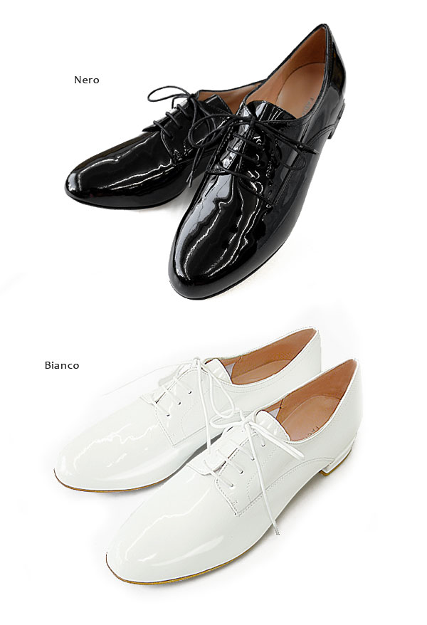 Fabio Rusconi �ե��ӥ� �륹������ <br> �ѥƥ�ȥ쥶�� �졼�����å� ���塼�� �� Patent Leather lace up shoes ��