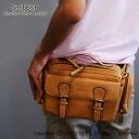 And glove leather 3-WAY lumbar bag