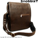 oiled leather flap shoulder bag /Snobbist novistrike