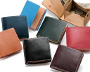 Outlet! Two bridle leather bi-fold wallet (scratches, stains and wrinkles)