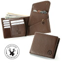 An outlet! Deerskin flexible folio wallet (color baldness, leather baldness)