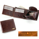 * Outlet! BURRY GREEN classic two bi-fold wallet
