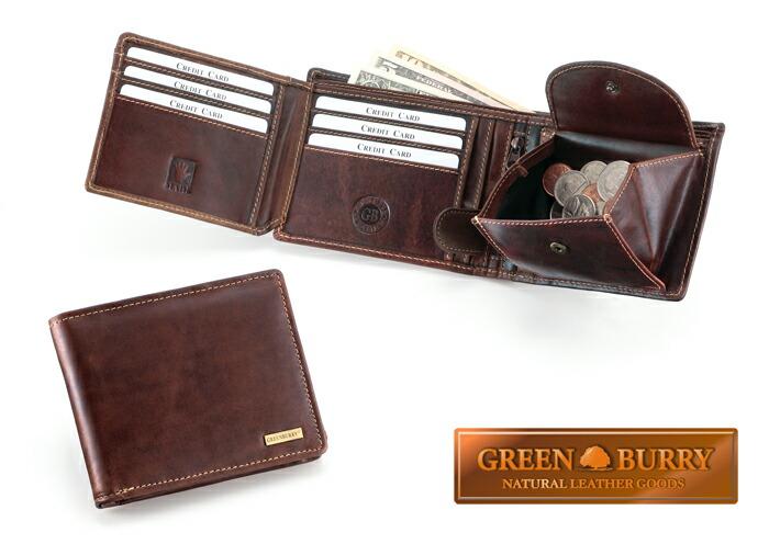 GREEN BURRYクラシック二つ折り財布