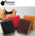 Outlet! Bridle leather mesh 2 fold wallet ( name put the fix and )