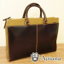 Apana Apiana FIELD FI-02C leather × コットンコンビブリーフケース / men's business bag