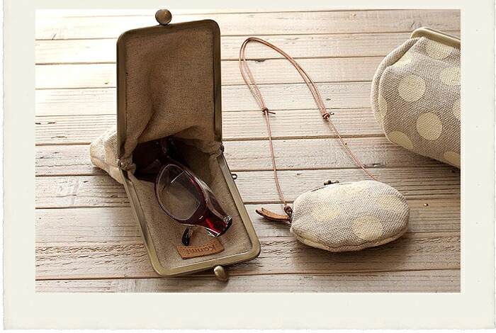 kanmi. candy canvas pouch glasses case
