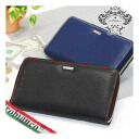 [Orobianco] INTRALAP type push leather round zipper long wallet [RCP] fs2gm