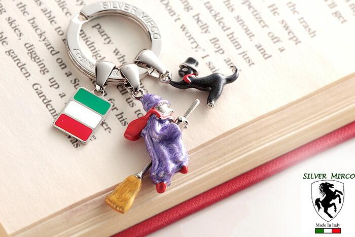 イタリア製シルバーキーリング 魔女