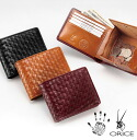 [Orice] Compact Mesh Leather Bi-Fold Wallet [Free Name-Engraving Service]
