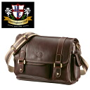 An outlet! Oil pulling up leather messenger bag A/Herring Bone Club