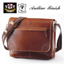 It is 50% of sale price OFF until August 1! An outlet! Aniline buffalo leather messenger bag※