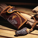 Eagle hand curve long wallet
