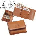 Olicebachetta leather tri-fold wallet