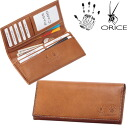 Olicebachetta leather length tag wallet