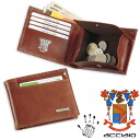 ACCIAIO vegetable tanning leather made in Italy two bi-fold wallet