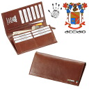 ACCIAIO made in Italy vegetable tanning leather wallet