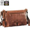Aniline wax leather messenger bag