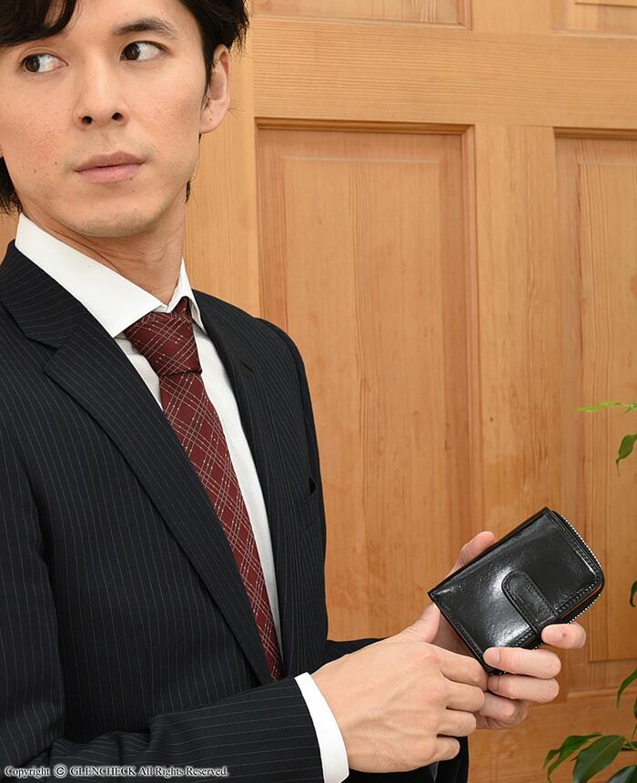 オリーチェバケッタレザー二つ折り財布