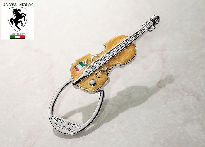 イタリア製シルバーグラスホルダー(バイオリン)