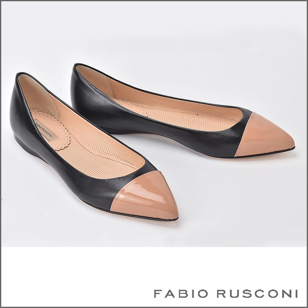 【FABIO RUSCONI/ファビオ ルスコーニ】バイカラー パンプス
