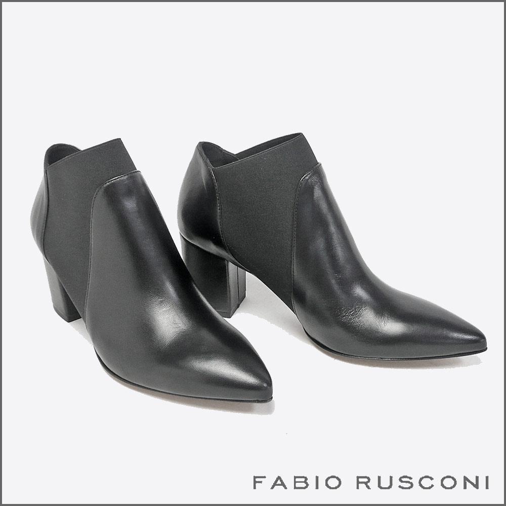 【FABIO RUSCONI/ファビオ ルスコーニ】レザー サイドゴアショートブーツ