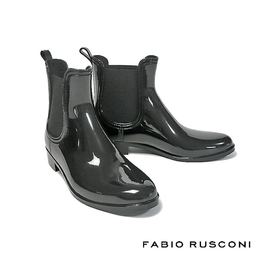 【FABIO RUSCONI/ファビオ ルスコーニ】サイドゴアレインブーツ