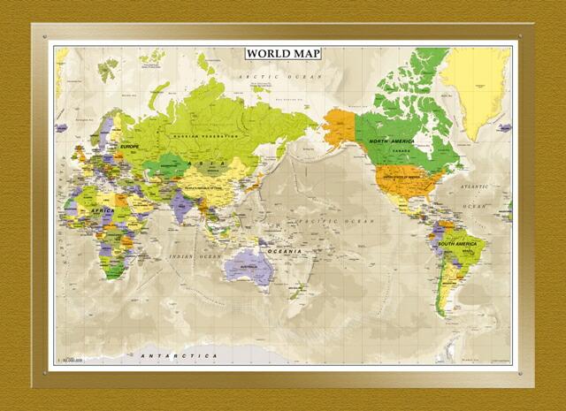 インテリアにお薦めの地図