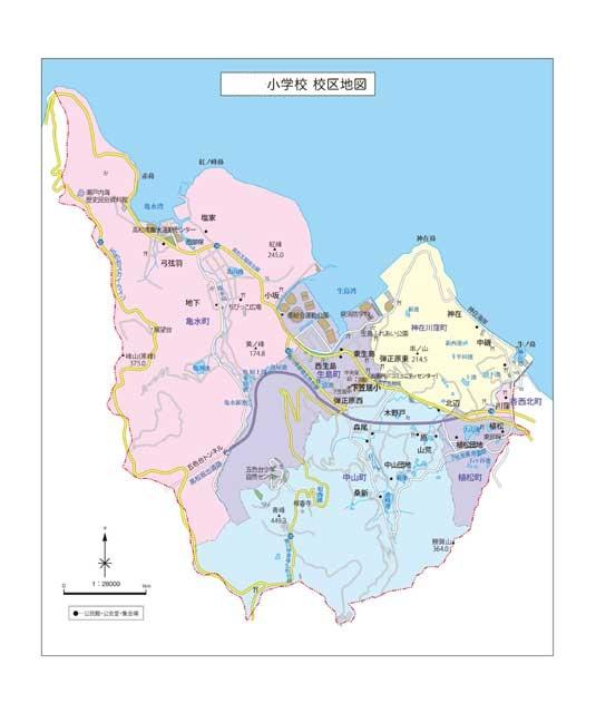地域の地図