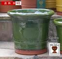グレイズドバクサスポット 직경 20cm 크기 Whichford Pottery Glazed Buxus Pot WF-649gl
