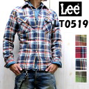 Flannel material Western shirts ★ Lee men's FLANNEL WESTERN SHIRT ☆ LT0519