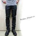 Beautiful shiny ☆ 2014S/S new standard ☆ NUDIE JEANS (Nudie jeans) THIN FINN black denim ORG BLACK 2 BLACK / Black 2 black THINFINN black classic gloss