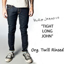 2013 FW ☆ classic color one wash NUDIE JEANS (Nudie jeans) TIGHT LONG JOHN タイトロング John color.035 ORG. TWill RINSED オーガニックツウィル Lins