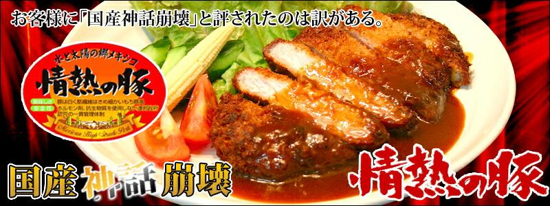 輸入ブランド豚肉 情熱の豚 とんかつ