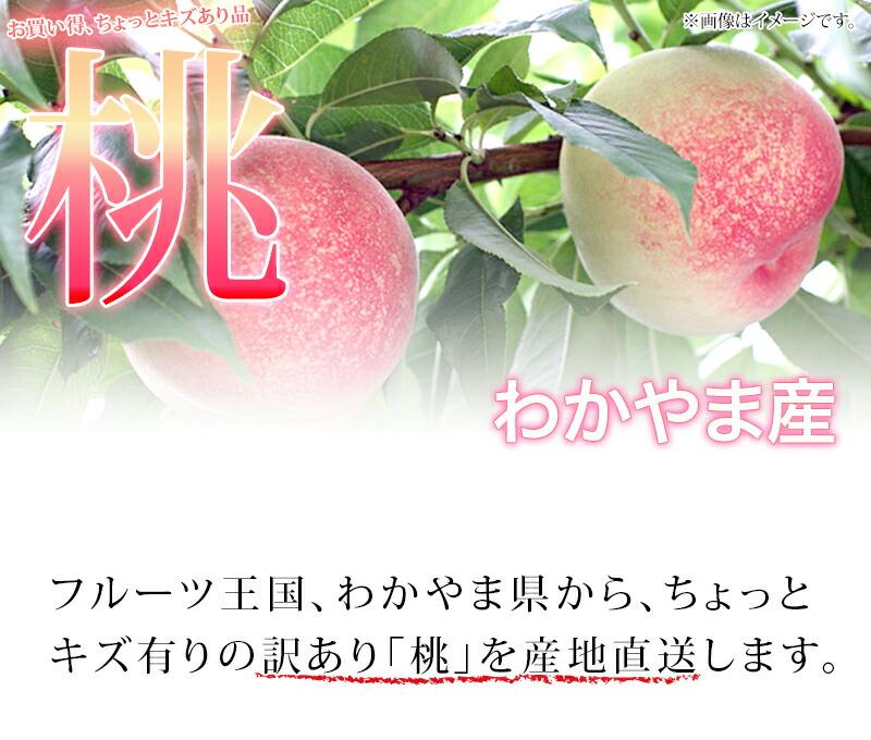 訳あり、和歌山の桃、甘くてジューシーもも
