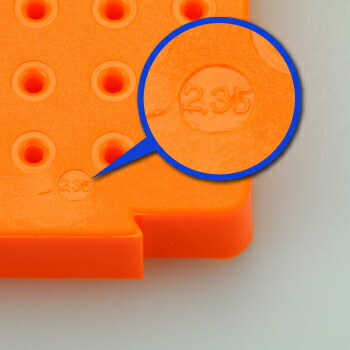 連結型・パーツスタンドΦ2.35mm軸用 サイズ刻印