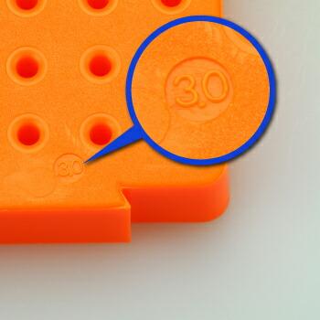 連結型・パーツスタンドΦ3.0mm軸用 サイズ刻印