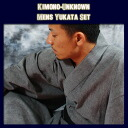 Men's yukata hand diaphragm, domestic high-quality cloth use yukata set for men, four points of newly made yukata set _ for men