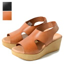 Toloy Troy wedge sole leather sandals T2148 V11 wedge leather Sandalwood platform heel thickness bottom (Lady's)