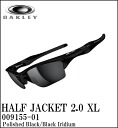 OAKLEY sunglasses HALF JACKET2.0 XLPOLISHED BLACK/BLACK IRIDIUM 009155-01