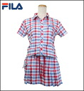 754-614 FILA GOLF Lady's golf wear one piece check one piece upup7