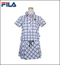 754-654 FILA GOLF Lady's golf wear one piece lattice checked pattern one piece upup7