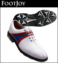 52136 FOOTJOYICON golf shoes white / red navy fs3gm
