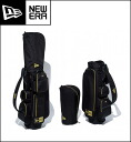 New era mens Golf Caddy bag black x Gold Basic Pouch with 11099696