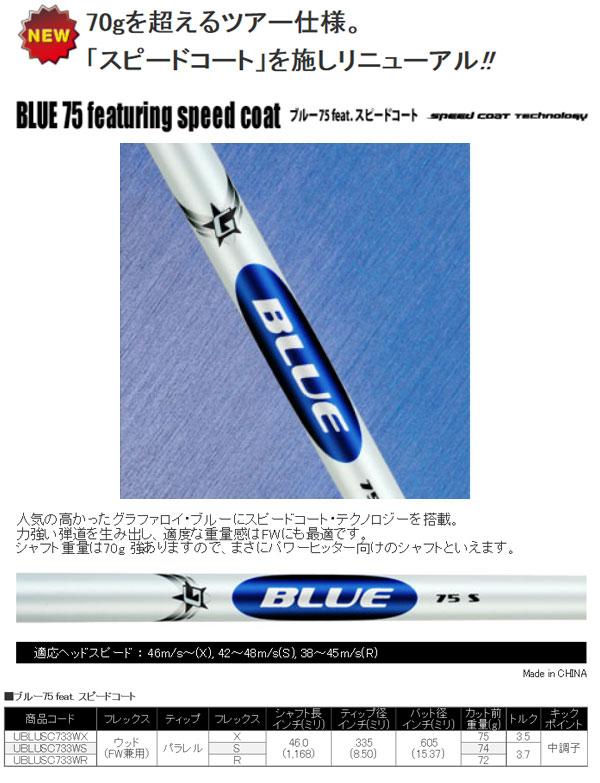 トゥルーテンパージャパン グラファロイ ブルー75 フューチャリングスピードコート ドライバー・フェアウェイウッド兼用カーボンシャフト
