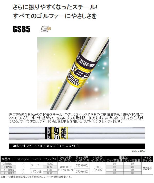 【送料無料】 トゥルーテンパージャパン GS85 アイアン用スチールシャフト #5-W用の6本セット パラレルチップ(9.4mm)タイプ [TRUE TEMPER]