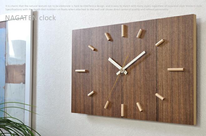 クラフト作家のハンドメイド壁掛け時計「NAGATEN」